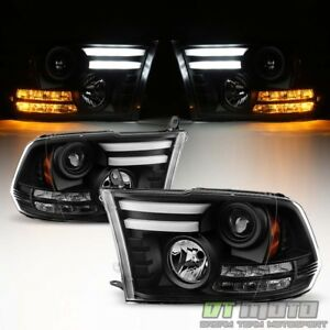 2009 2018 Dodge Ram 1500 2500 3500 Led Turn Lights Drl Tube Projector Headlights