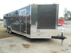 New 8 5 X 24 8 5x24 Custom V nosed Enclosed Cargo Trailer W Bathroom Loaded