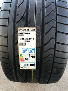 2 New 345 35 19 Bridgestone Potenza Re050a Scuderia Tires