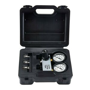 Cylinder Leak Down Tester Detector Engine Compression Lost Test Gauges With Case