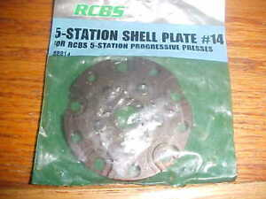 RCBS 5 Station Progressive Press Shell Plate #14 for 30-378338-378378460 Wby