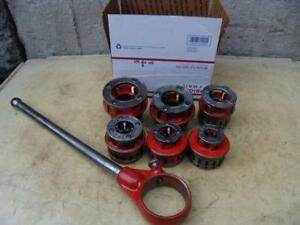 Ridgid 12r 1 2 To 2 Inch Pipe Threader Die Set For 300 700 Great Shape 3