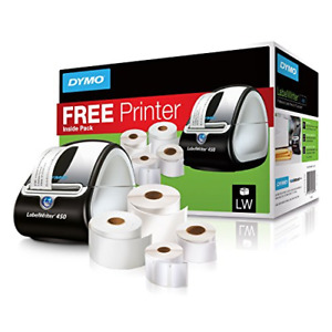 Dymo Labelwriter 450 Super Bundle Free Label Printer With 4 Rolls Of Shipping