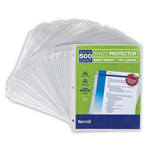 Samsill 500 Non glare Heavyweight Sheet Protectors 3 3 Mil Thick Top Loading
