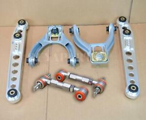 G2 Polished Aluminum Lower Control Arm Front Rear Camber Kit For 96 00 Civic Ek