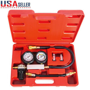 Compression Leakage Detector Kit Set Petrol Tool Car Auto Cylinder Leak Tester