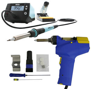 Hakko Fr 301 Fr301 03 p Desoldering Gun Weller We1010na Digital Solder Station