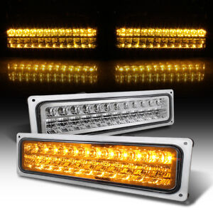 1988 1998 Chevy Silverado Gmc Sierra Yukon Led Bumper Parking Lights Left right