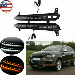 For 07 09 Audi Q7 Car 22 Led Direct Drl Daytime Running Light W turn Signal Lamp