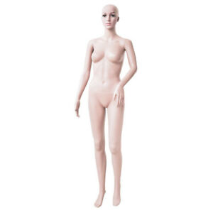 Female Mannequin Full Body Plastic Realistic Display Head Turn Dress Form W base