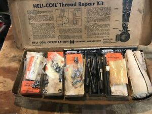 Vintage Vintage Helicoil Heli coil Screw Lock Inserts Kit Tap Thread Repair Kit