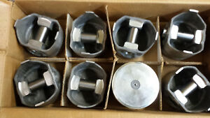 318 Dodge Chrysler Forged Pistons L2406f 030 Over Obsolete Set Of 8