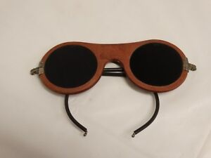 Vtg American Optical Ao Safety Glasses Welding Goggles Industrial Steampunk