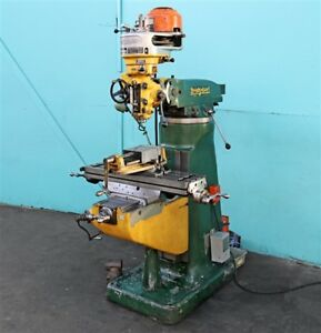 Bridgeport j head 9 X 42 Vertical Milling Machine