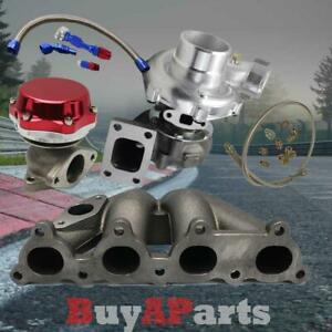 T3 t4 Turbo manifold red Wastegate oil Feed Return Line For D series Honda Civic