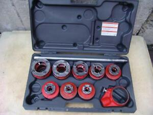 Ridgid 12r 1 4 To 2 Inch Pipe Threader Die Set For 300 700 Mint Condition 5