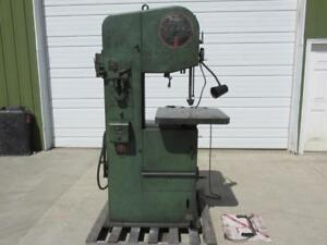 Doall Model 1612 0 Vertical Metal Cutting Band Saw 16 X 12 Variable Speed