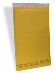 6 12 5x19 Kraft Ecolite Bubble Mailers Padded Envelopes Bags 12 5 X 19 50 100