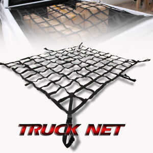 Pickup Truck Crew Cab 8 Ft Long Bed Box Cadillac Heavy Duty Cargo Net W Hooks