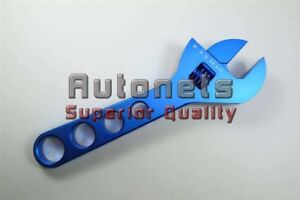 Adjustable Billet Aluminum An Hose Fitting Wrench Blue 3an 20an Circle Track 9