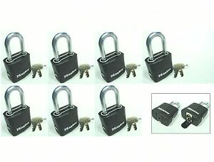 Lock Set By Master M115kalf lot 7 Keyed Alike Carbide Shackle Weather Sealed