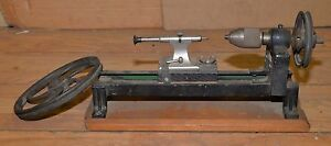 Homemade Watchmaker Lathe Vintage Jewelers Mini Bench Tool Collectible Precision