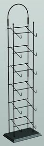 Counter Tower Sport Cap And Hat Display Rack 6 Tier black