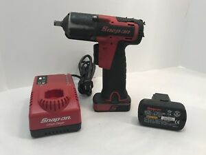 Snap On Ct761 3 8 14 4v Li Ion Cordless Impact Wrench 2 Batteries