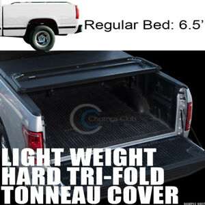 Tri fold Hard Tonneau Cover Lw 88 00 Chevy C k Ck C10 Silverado 6 5 Ft Short Bed