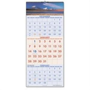 At a glance Aagdmw50328 3 monthly Wall Calendar Dec jan Scenic 15 50x22 75in