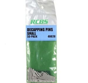 RCBS 49628 Replacement Decapping Pin Size Small Steel 50 Pack