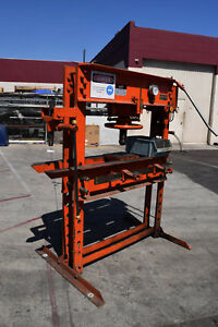 Jet 60 Ton Hand Hydraulic H frame Bearing Forklift Tire Wheel Press Guaranteed