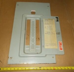 Fpe 200 Amp Main Breaker Federal Pacific Panel Cover Stab Lok Load Center Used