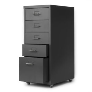 5 Drawer Metal Mobile File Cabinet Filing Organizer Home Office W 4 Caster L3n1