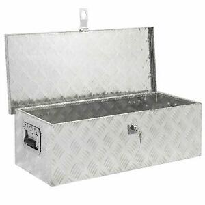 29 Under Bed Trailer Aluminum Tool Storage Box With Tongue Lock Us Store
