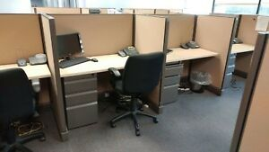 Used Office Cubicles Herman Miller Ao2 4x2 Cubicles