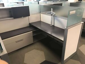 Used Office Cubicles Knoll Autostrada 6x6 Cubicles