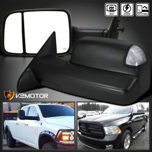 2009 2012 Dodge Ram 1500 Power Heated Flip Up Towing Mirrors W Led Signal Puddle