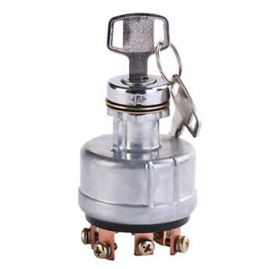 Car Tractor 6 Terminal Metal Ignition Starter Switch Wire Digger With 2 Keys Str