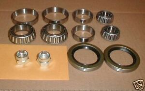 Maserati Biturbo Front Wheel Bearing Set Kit Inner Outer Seals Nuts On Sale