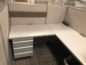 Used Office Cubicles Haworth Unigroup Too 5x5 Cubicles