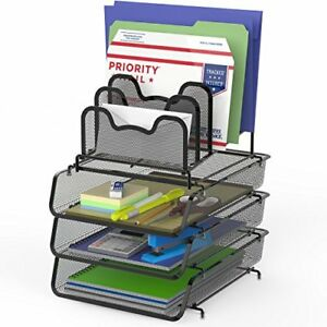 Simplehouseware 3 pack Stackable Desk File Document Letter Tray W 5
