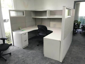 Used Office Cubicles Steelcase Answer 7 5x6 Cubicles