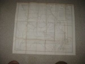 Rare Early Vintage Antique 1852 Missouri Dated Map St Louis Arkansas Boundary Nr