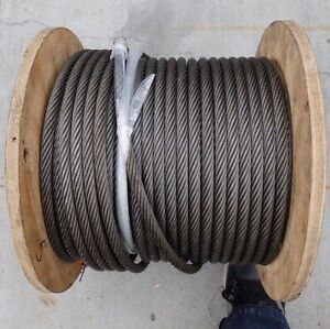 185 Feet Ced Elevator Supply Wr12g12s Wire Rope Rigging Hoist Cable e6