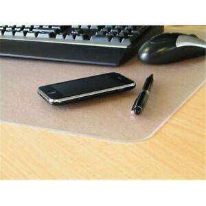Desktex Polycarbonate Smooth Back Desk Mat Rectangular Shaped 17 X 22 In