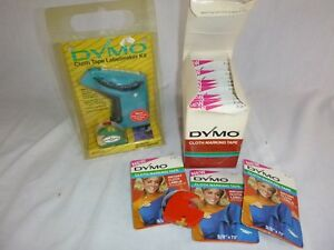 Nos Vtg Dymo Cloth Labelmaker Kit Labeling Embossing 13 Rolls Iron On Tape