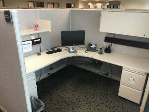 Used Office Cubicles Haworth Unigroup 7x7 Cubicles