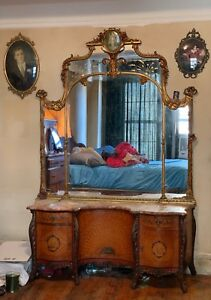 Early 1900 S Antique Wood Bed Bedroom Set