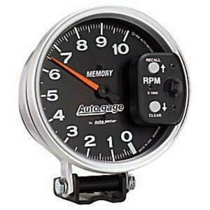 Auto Meter 233902 5 Auto Gage Mechanical Tachometer 10 000 Rpm With Peak Memory